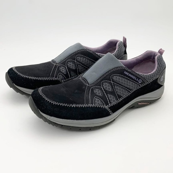 NEW WOMENS MERRELL Andean Moc J227408C Black Sea Fog Violet